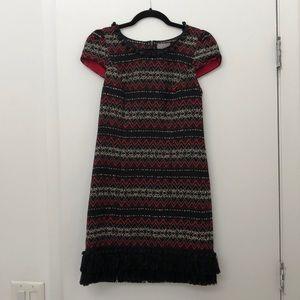 Black and red mini dress